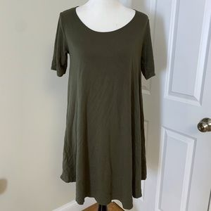 Forever 21 army green trapeze t shirt dress 1X